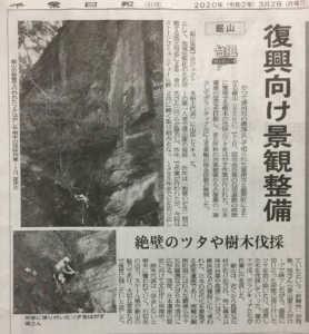 千葉日報2020.3.2蔦はがし